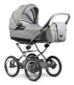 """Grey Baby Stroller on white. This file is cleaned, retouched and contains"""